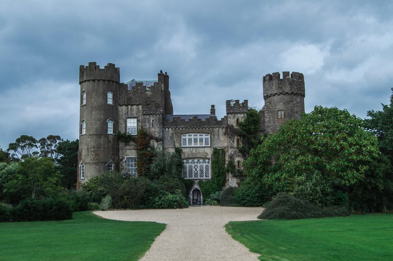 Moody picture of Malahide Castle in Ireland