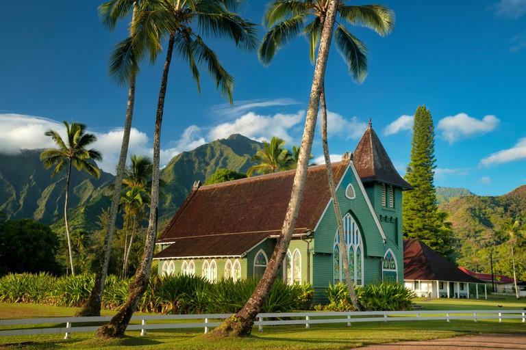 Wai`oli Hui`ia ChurchI ka poli o Hanalei - in the Heart of Hanalei, Kauai, Hawaii