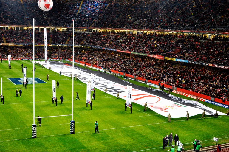 Millenium Stadium in Cardiff, Wales