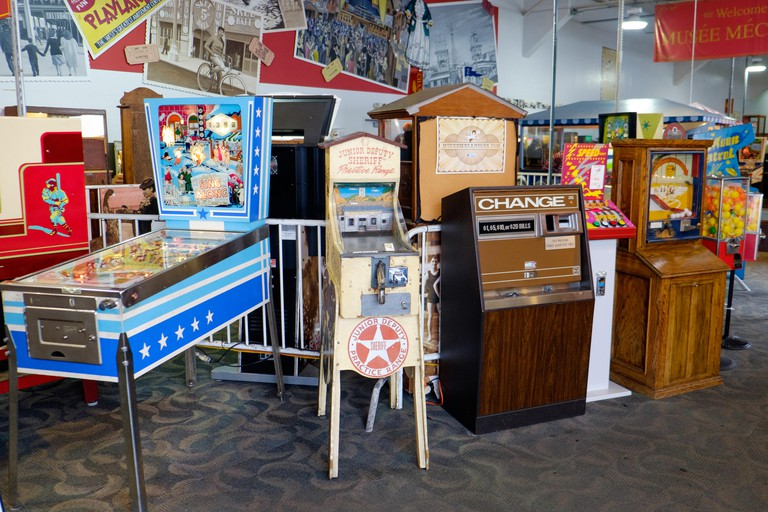 Interior of the Musee Mecanique in San Francisco California USA