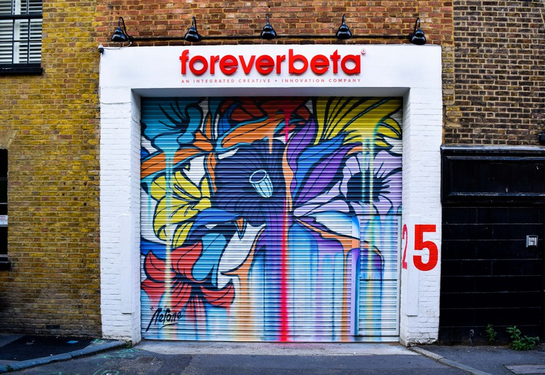 Nerone - London Mural Festival - 25 Holywell Row Hackney, EC2A 4XE