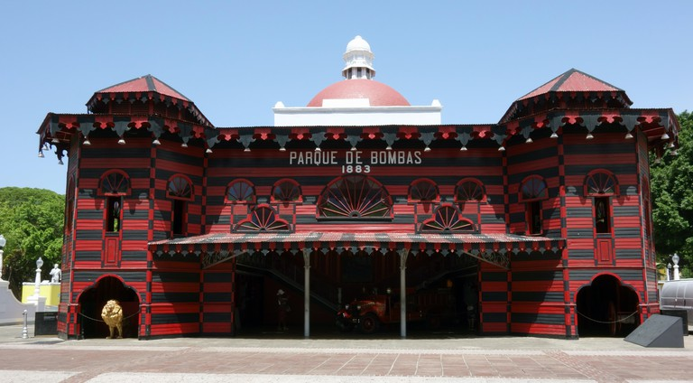 The oriental looking old  fire station in Ponce 'Parque de Bombas'