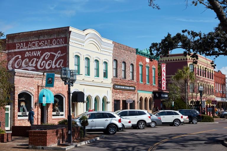 Buildings in downtown Fernandina Beach, Florida