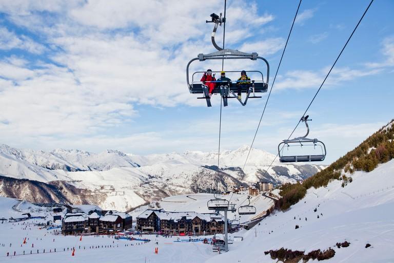 France Hautes Pyrenees ski resort of Peyragudes Peyresourde slopes