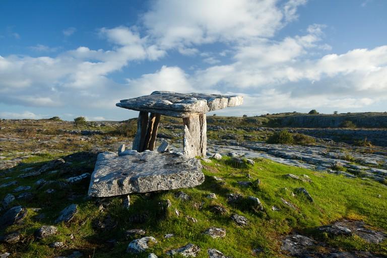 Poulnabrone Dolmen, The Burren, County Clare, Ireland.