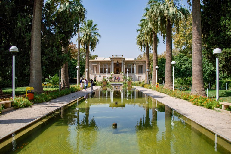 The Royal Mansion at Afif Abad Garden in Shiraz, Iran