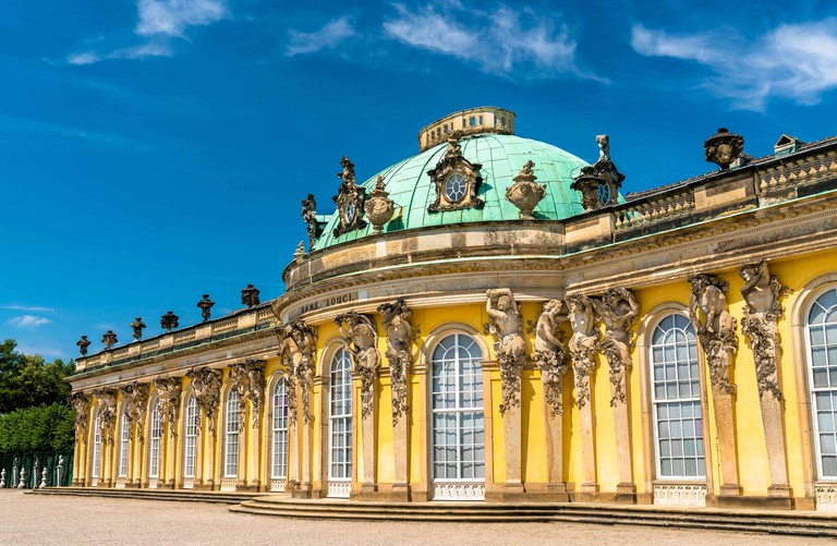 Sanssouci, the summer palace of Frederick the Great, King of Prussia, in Potsdam, Germany