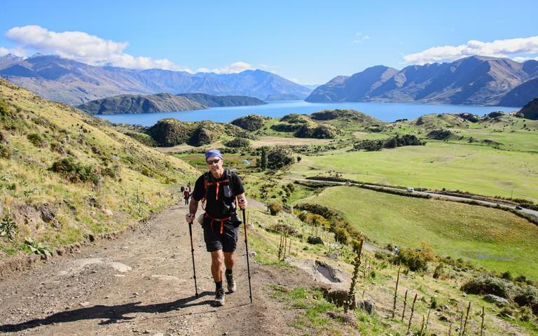 Trekking at Roy's Peak, Wanaka, New Zealand