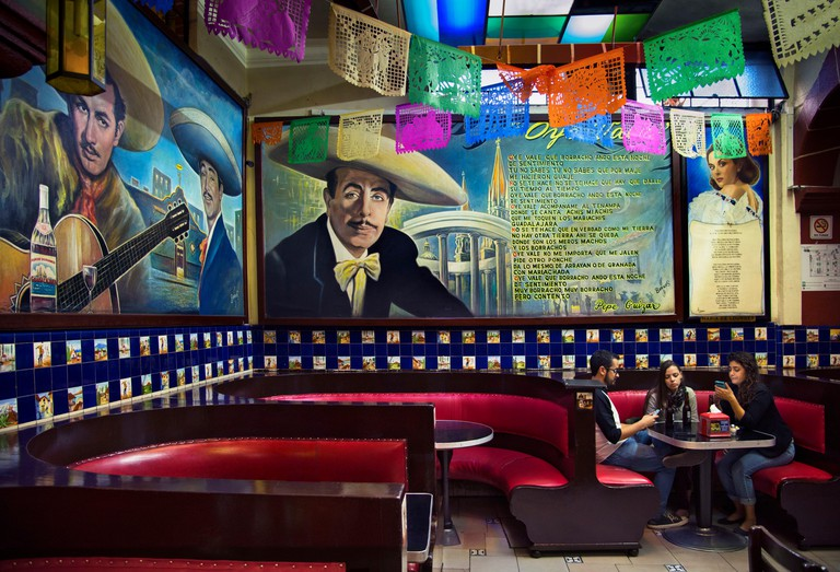 Mexico, Mexico City, Salon Tenampa, Cantina, Wall Murals, Birthplace of Mariachi, Plaza Garibaldi