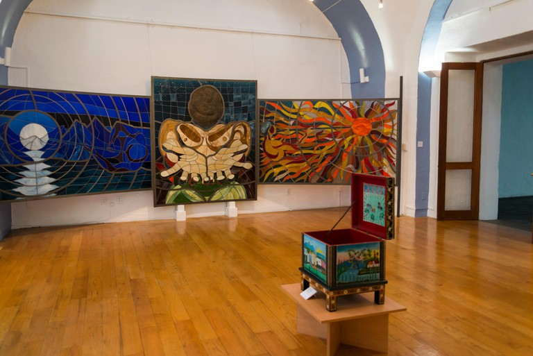 San Pedro Art Museum, located in a former 16th-century hospital, Indigenous art exhibition, Puebla, Mexico