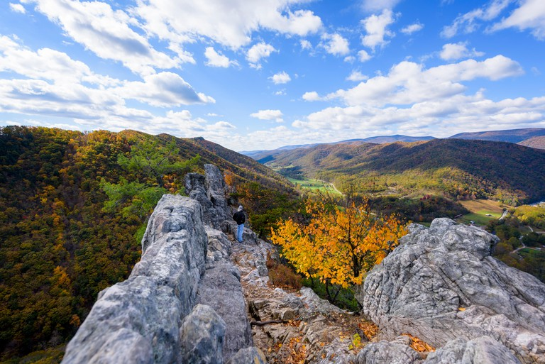 View of valley from Seneca Rocks, State Park, West Virginia