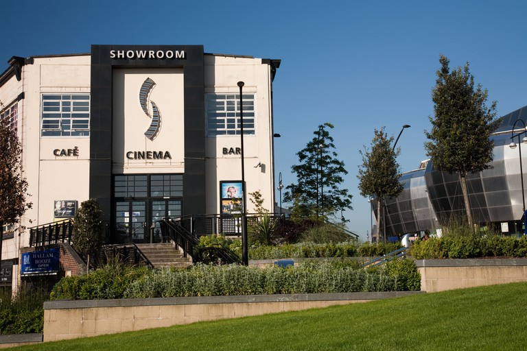 Th front entrance of the Showroom cinema in Sheffield. Image shot 2009. Exact date unknown.