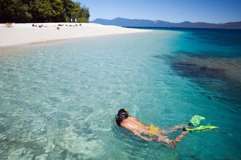 Snorkelling - Cairns, Queensland, AUSTRALI. Image shot 2008. Exact date unknown.