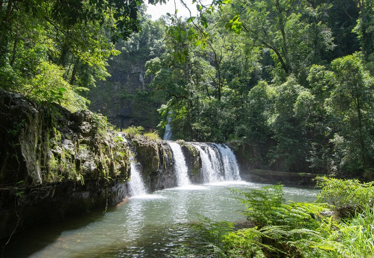 Picturesque view of Nandroya Falls in Wooroonooran National Park, Far North Queensland, FNQ, QLD, Australia