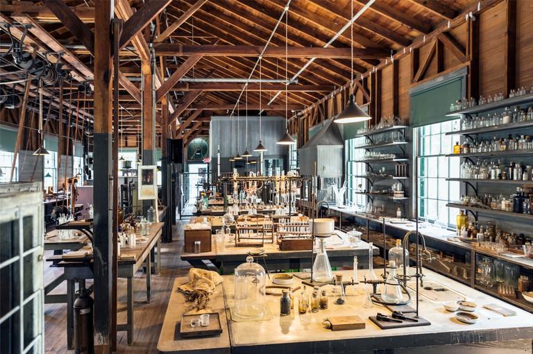 USA,Florida,Fort Myers, The Edison-Ford Winter Estates. Thomas Edison's working laboratory