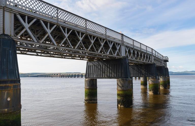 Tay Rail Bridge Dundee Tayside Scotland