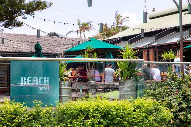Byron Bay, the popular Beach hotel bar and public house at Main beach in Byron Bay,Australia