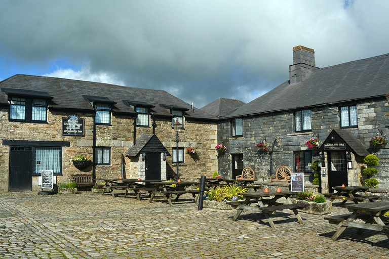 The Famous Jamaica Inn On Bodmin Moor In Cornwall, UK