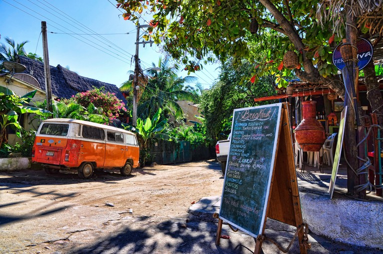 Outside, Tierra Viva ,a neighborhood restaurant in Sayulita, Nayarit, Mexico