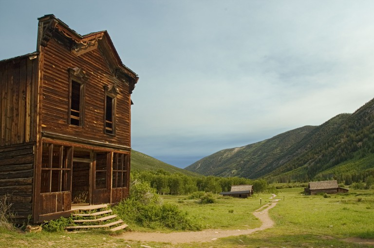 Colorado Ashcroft Ghost Town hotel and cookshack 19C silver mining town