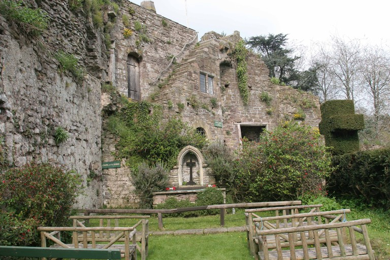 Usk Castle Monmouthshire South East Wales