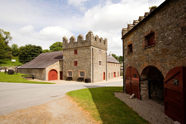 UK Northern Ireland County Down Strangford Castle Ward Estate farmyard