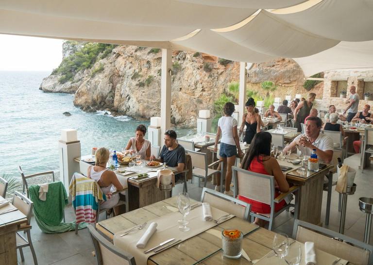 The restaurant at Amante Beach Club in Ibiza