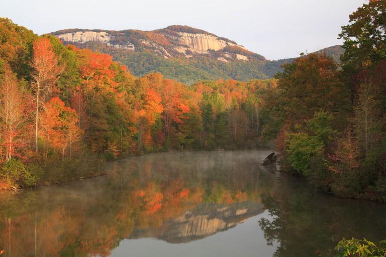 Sunrise, Table Rock Mountain, Table Rock State Park, Pickens, South Carolina, USA