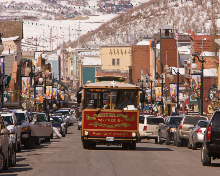 PARK CITY UTAH USA - Trolley on Main Street
