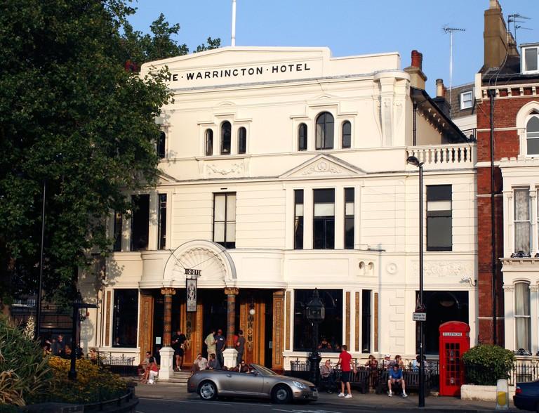 The Warrington Hotel, Maida Vale, London. Image shot 2008. Exact date unknown.