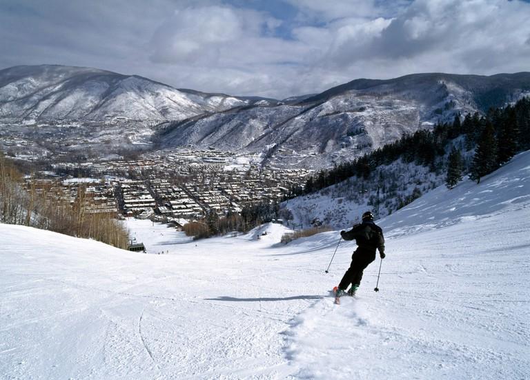 Person skiing on Aspen Mountain