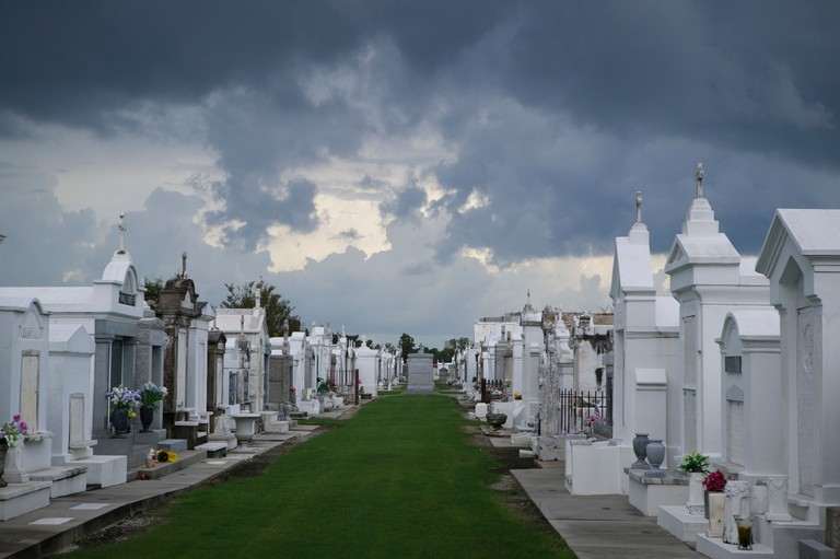 St. Louis Cemetery No. 1 with Gray Clouds overhead, New Orleans