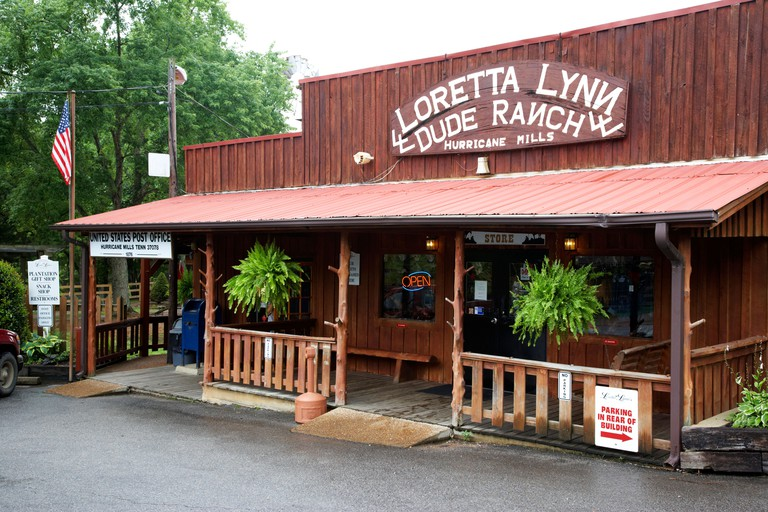 shop store and post office at the loretta lynn dude ranch hurricane mills tennessee usa