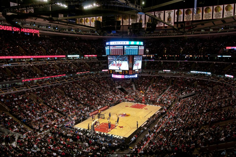 Chicago Bulls basketball game at the United Center