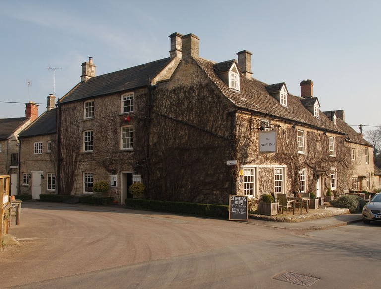 The New Inn, Coln St Aldwyns. Image shot 03/2012. Exact date unknown.