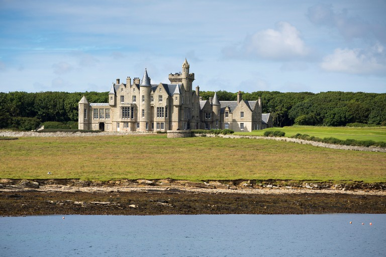 Balfour Castle country house hotel, Shapinsay Island, Orkney Islands, Scotland, United Kingdom