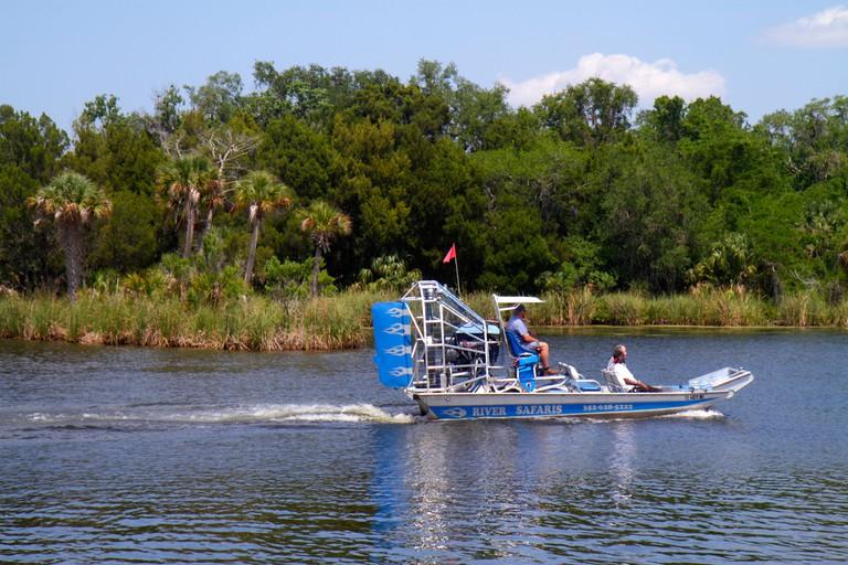 Florida, FL, South, Homosassa Springs, Old Homosassa, Homosassa River, airboat, boat, sightseeing visitors travel traveling tour tourist tourism landm