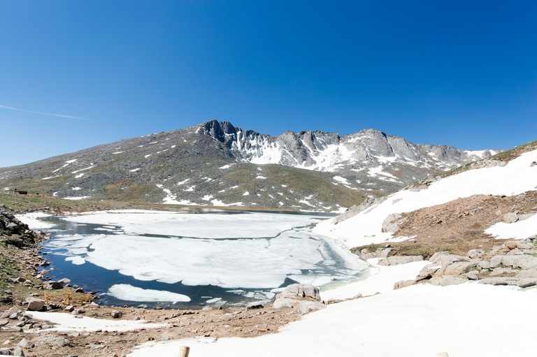 The summit and lakes of Mount Evans, near Denver, Colorado, USA