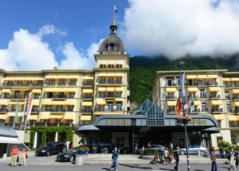 Victoria-Jungfrau Grand Hotel  Spa. Image shot 07/2013. Exact date unknown.