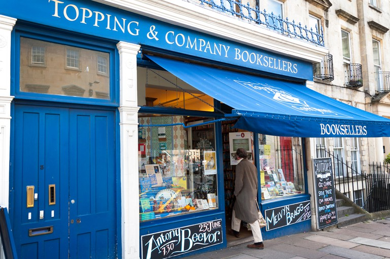 Topping and Company Booksellers Bookshop in The Paragon, Bath, Somerset, UK