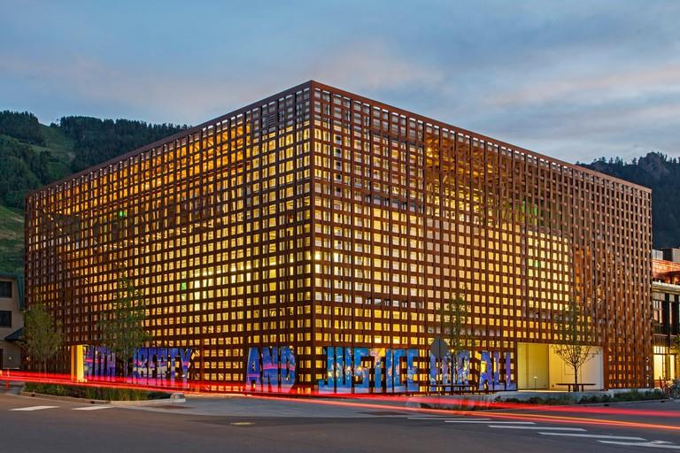 Aspen Art Museum (by architect Shigeru Ban), Aspen, Colorado USA