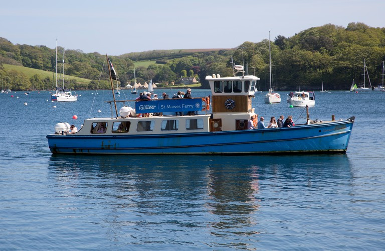 Ferry boat in the harbour, St Mawes, Cornwall, England, UK