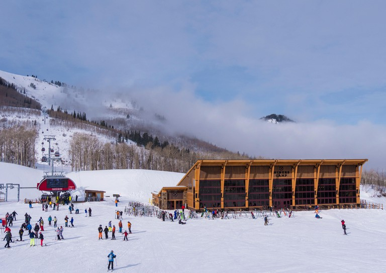 Miners Camp Lodge, Park City Side, Park City Mountain Resort, Park City, Utah.