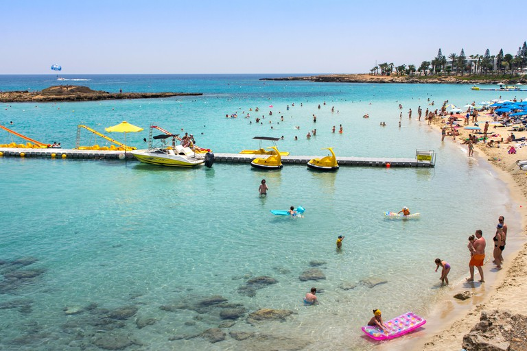 Fig Tree Bay, Protaras, Famaguta, Cyprus. 14th June 2017. Credit: Tove Larsen/Alamy