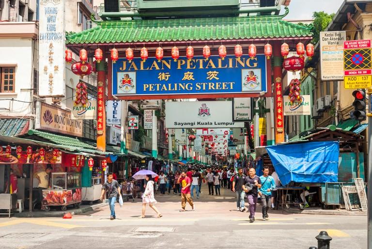 Petaling street in Kuala lumpur china town, Malaysia