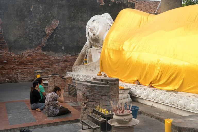 reclining Buddha  of Wat Yai Chai Mongkhon,  Ayutthaya