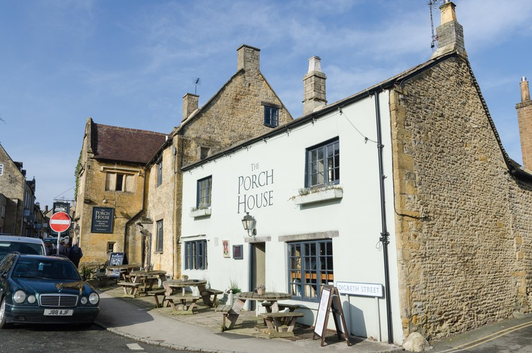 The Porch House old pub and restaurant in Stow-on-the-Wold in the Cotswolds