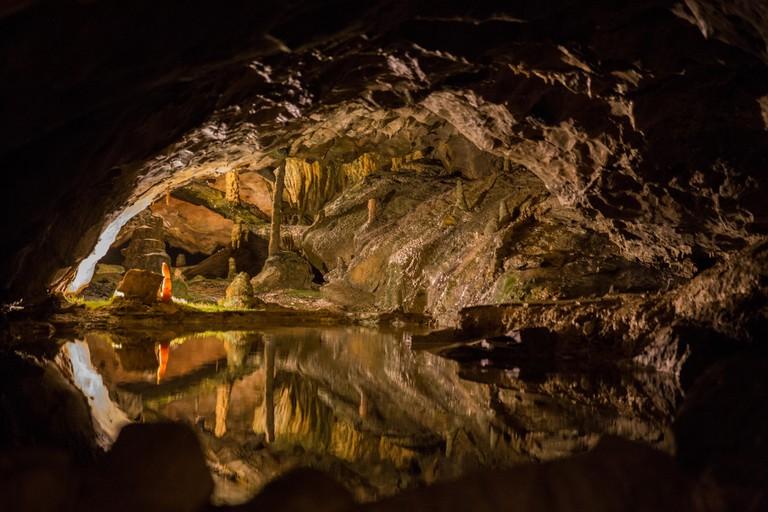 St. Beatus Caves in Swizerland. May, 2015