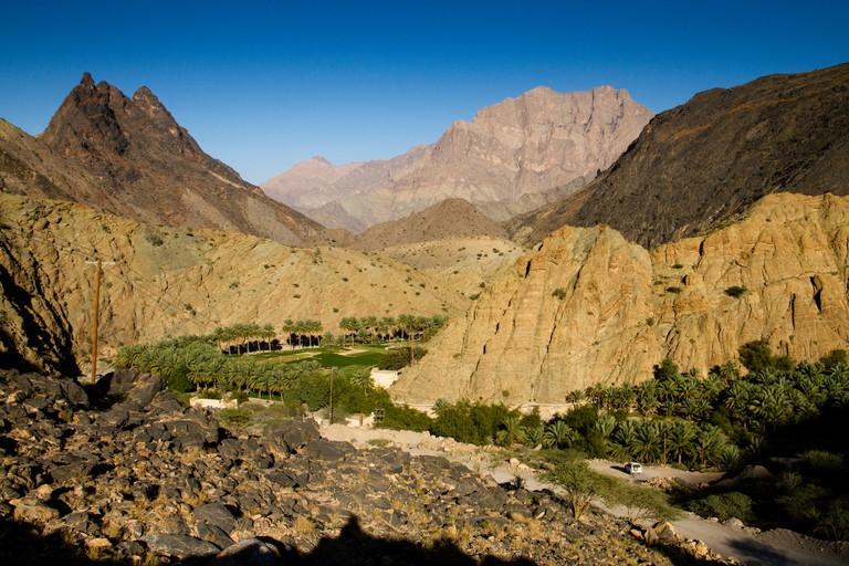 Jebel Akhdar, also known as Jabal Akhdar or Al Jabal Al Akhdar, Al Hajar mountain range, Oman