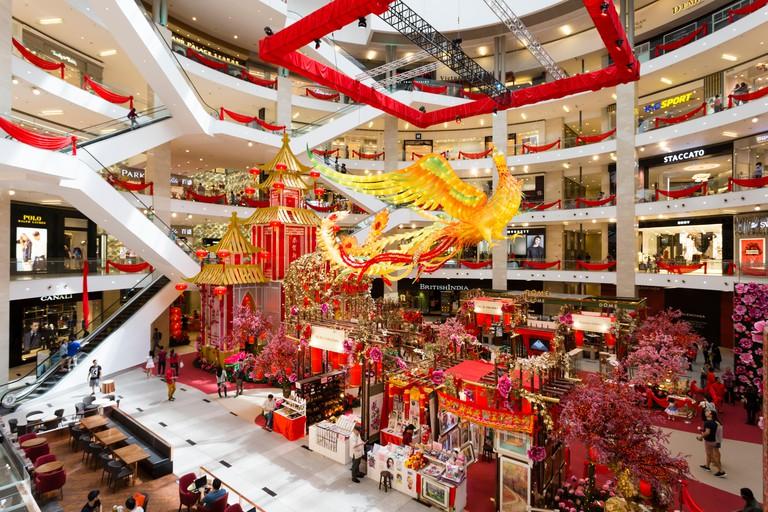 Interior of Pavilion Kuala Lumpur shopping mall located in Bukit Bintang area.